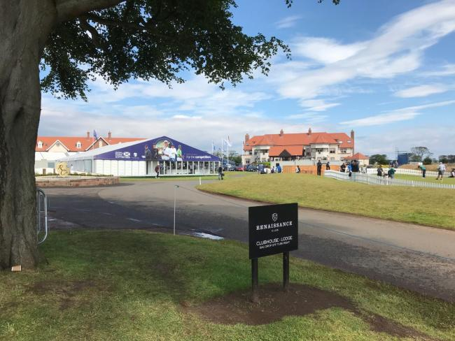 The Scottish Open is being held at The Renaissance Club, near Dirleton