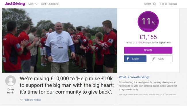 A JustGiving page has been set up to raise money for Scott Glynn