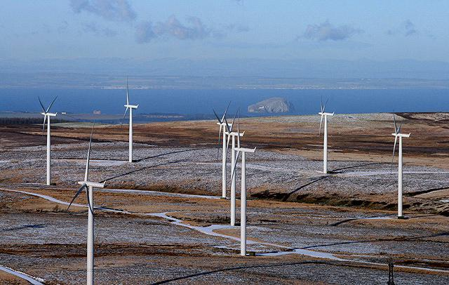 More wind turbines are set to be built at Crystal Rig in the Lammermuirs. Image copyright Walter Baxter and licensed for reuse under Creative Commons Licence