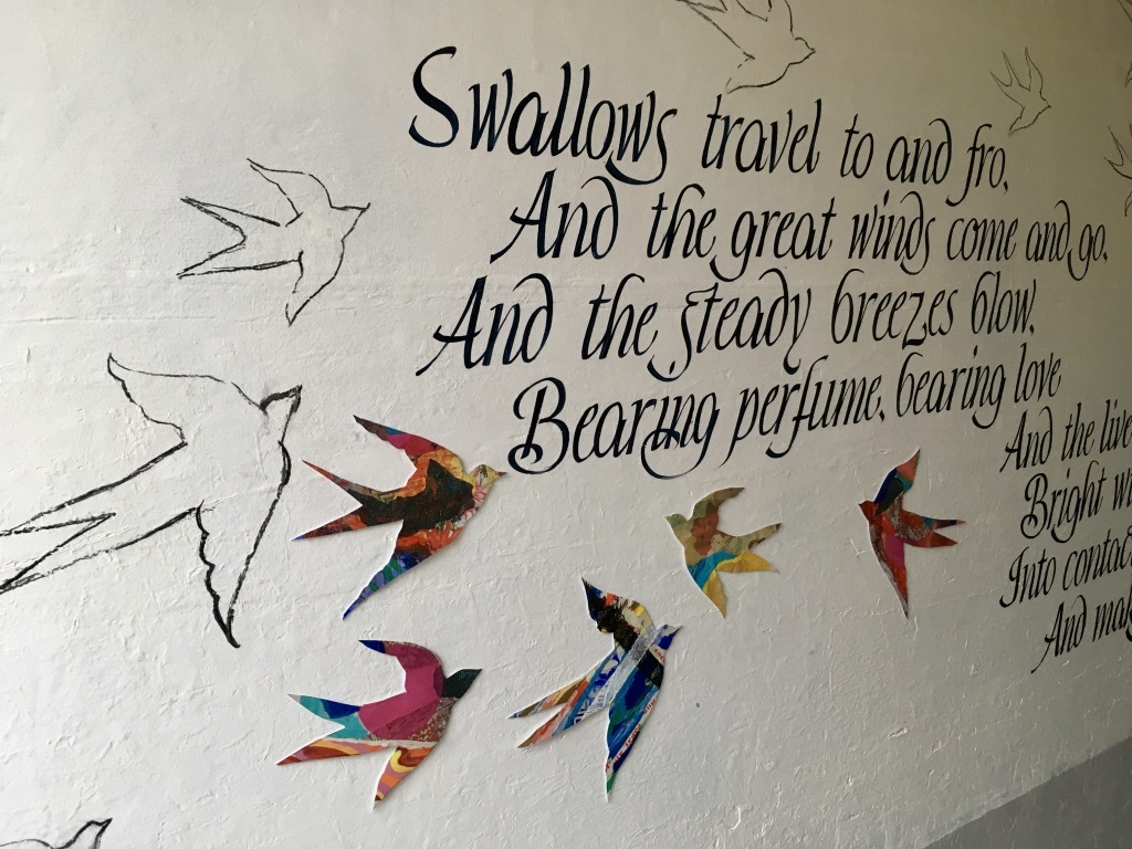 Swallows and migration are inspiration for mural