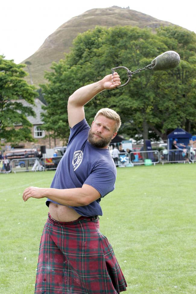 Action from last year's North Berwick Highland Games