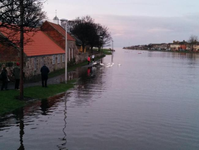 The River Esk at Musselburgh burst its banks five years ago. Image: Scott Watt