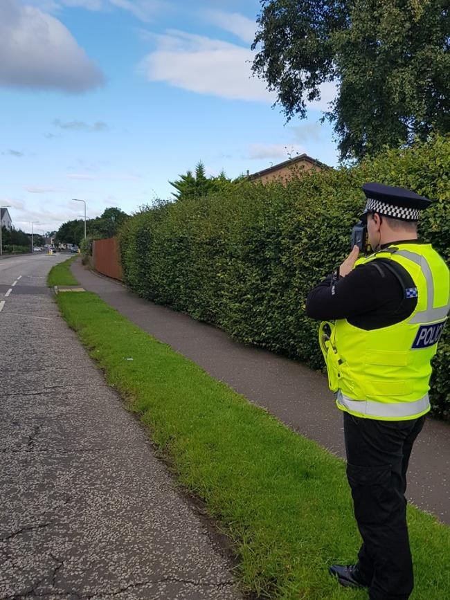 Police carrying out speed checks in Prestonpans. Image East Lothian Police Facebook