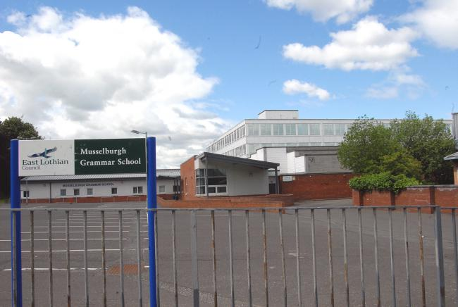 The incident took place outside Musselburgh Grammar School