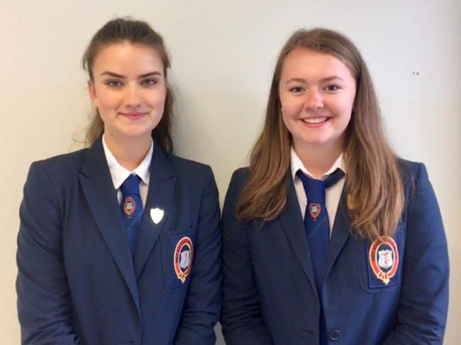 Jocelyn McKnight and Catriona Dee are the new head pupils at Knox Academy
