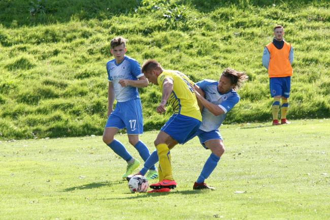Musselburgh (blue) progressed to the next round of the Alex Jack Cup after victory over Bo'ness
