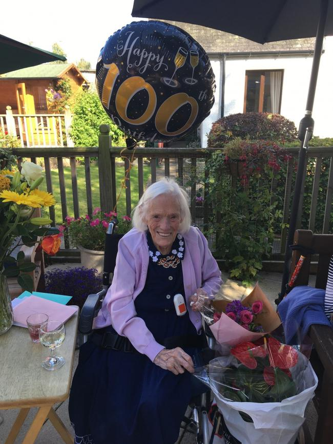 Helen Thomson has celebrated turning 100 with a telegram from HM The Queen