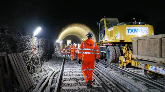 The work scheduled for the Calton tunnel means track, signalling and drainage will be renewed between Drem and Dunbar. Pic: Network Rail