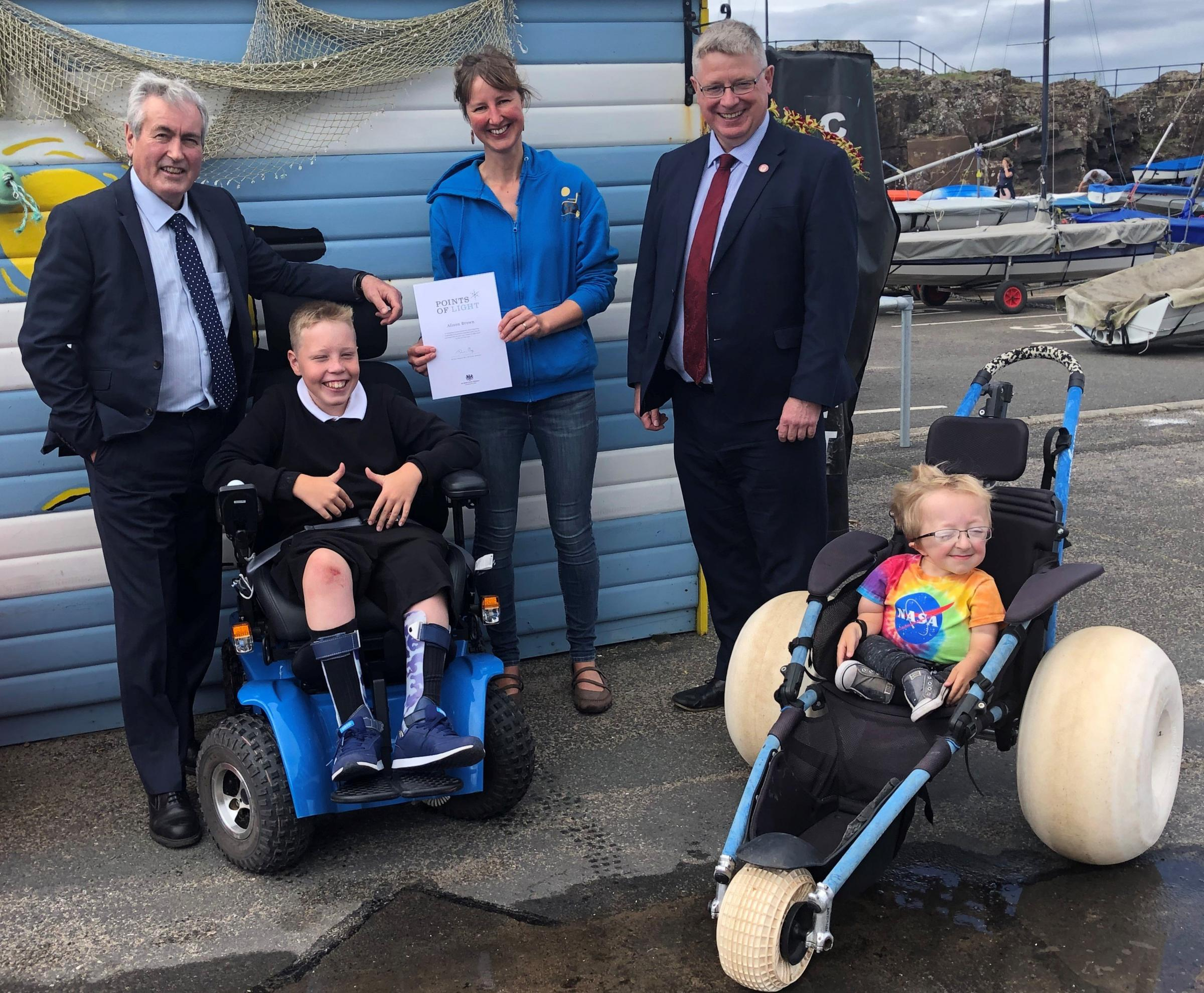 Beach Wheelchairs' founder given Prime Minister's award