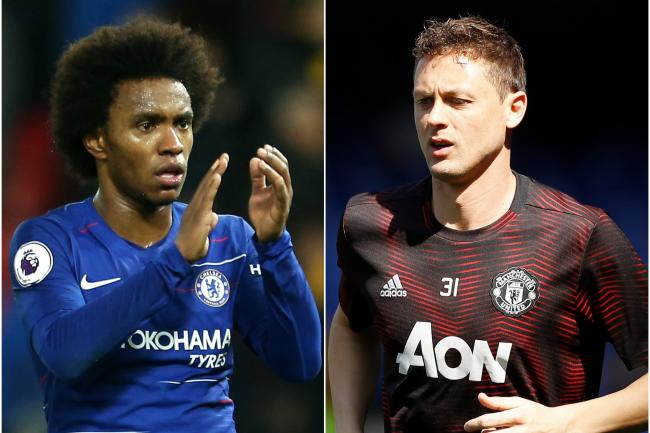 Willian, left, and Nemanja Matic