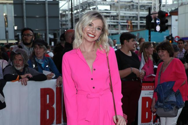 Amy Hart from Love Island arriving for the gala night for Big The Musical at the Dominion Theatre, London