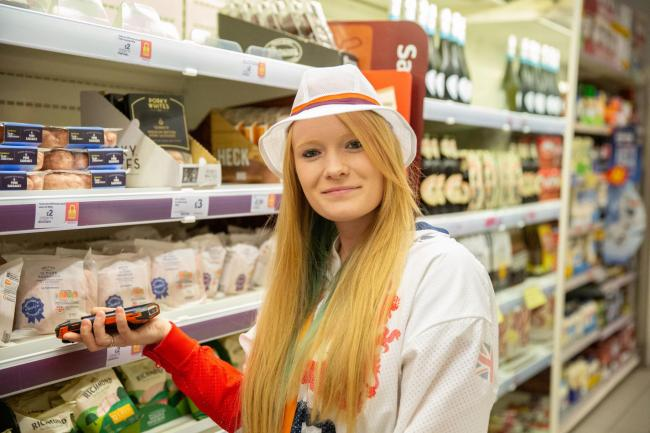 Jodie Grinham joined Sainsbury's colleagues for a day in the store