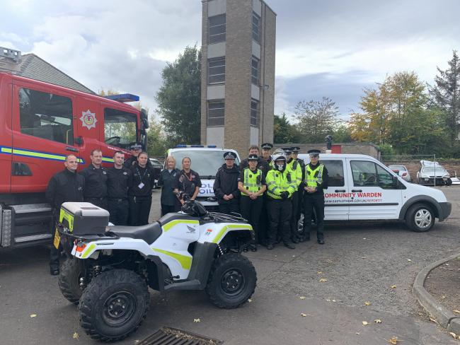 Emergency services in East Lothian will be working together to ensure the publics safety on Hallowe'en and Fireworks night