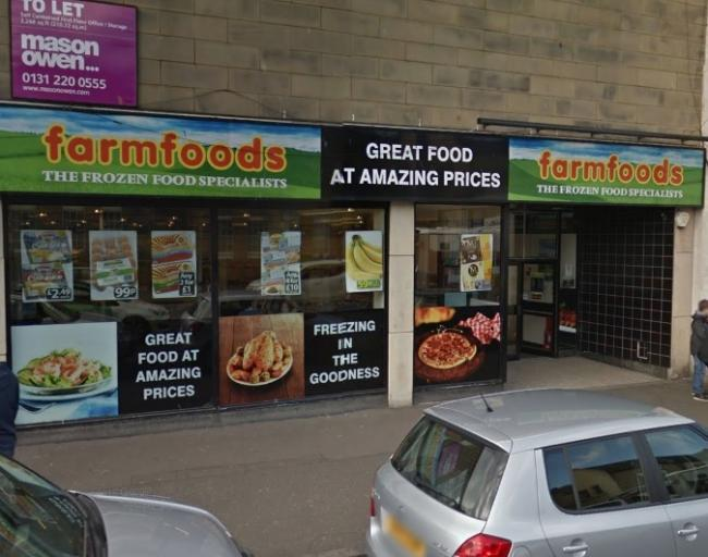 One of the incidents was at Farmfoods on Musselburgh High Street. Image Google Maps