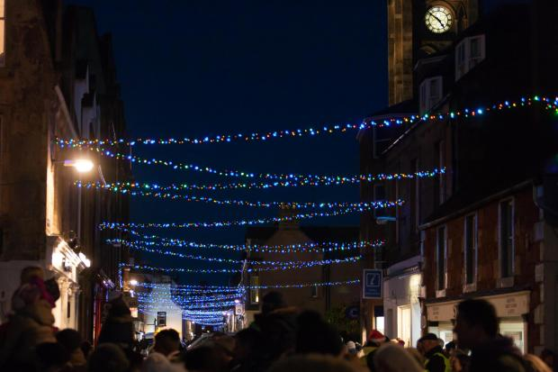 North Berwick Christmas lights, pictured here in a previous year, will be switched on this weekend