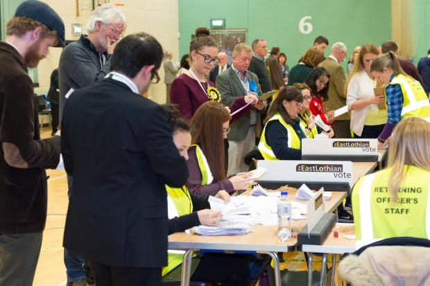 The count under way at Meadowmill
