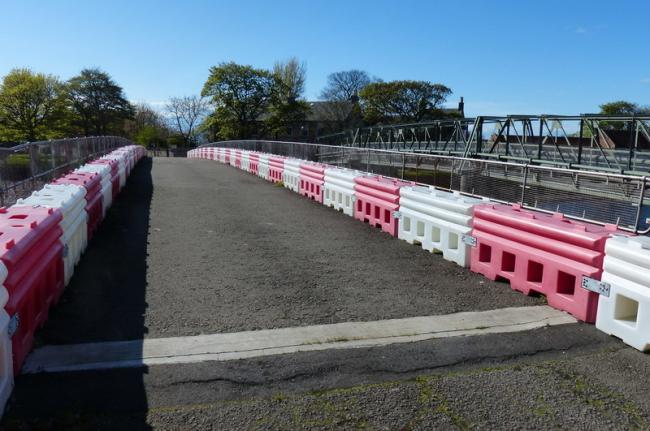 The Electric Bridge in Musselburgh is now permanently closed. Image copyright Mat Fascione and licensed for reuse under Creative Commons Licence