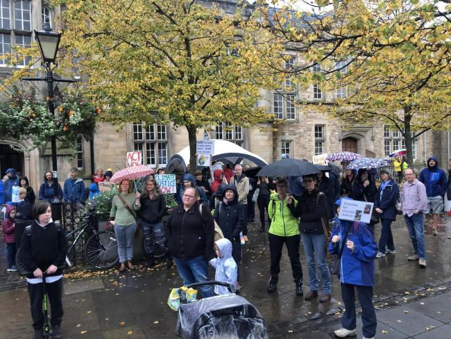 A climate strike took place in Haddington last September