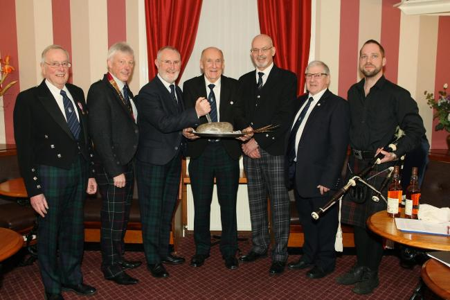 Tranent 25 Burns Club at their supper last year