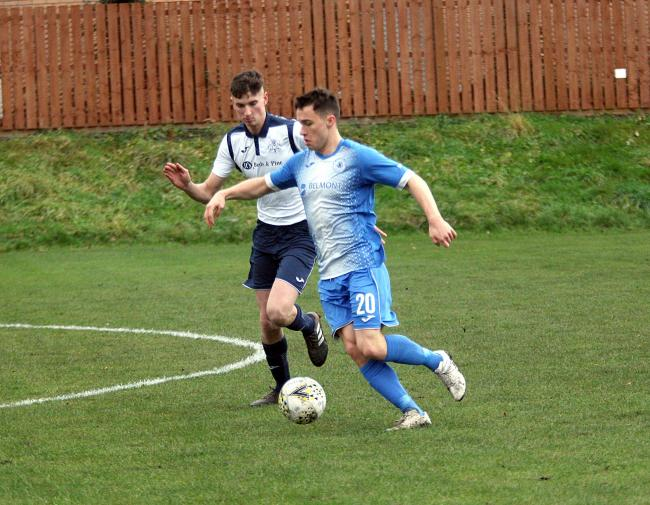 Musselburgh (blue), here in action earlier in the season, will play in next season's Scottish Cup