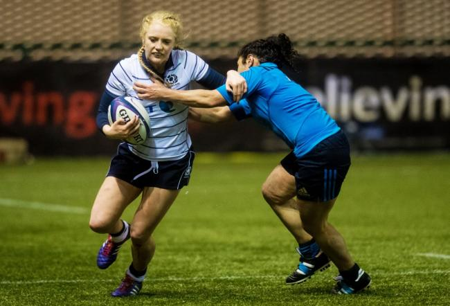 Megan Gaffney, shown here in action in a win over Italy, is part of the Scotland squad selected for the Women's Six Nations. Pic Scottish Rugby/SNS Group