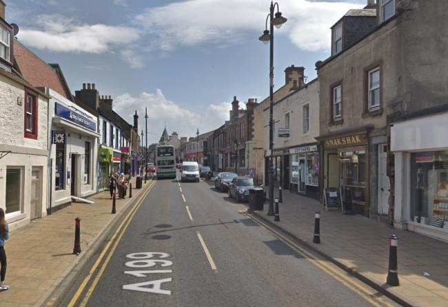 The incident took place on Tranent High Street. Image Google Maps