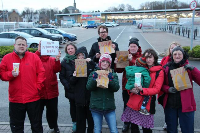 There were protests early last year when McDonald's lodged plans for a drive-thru at the Tesco car park in Musselburgh