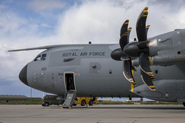 East Lothian Courier: This is an Airbus A400M Atlas, the type of airfact seen over Glasgow in recent weeks (Image: RAF)