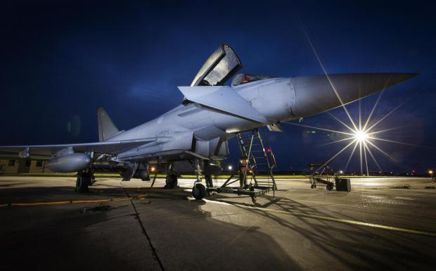 East Lothian Courier: A Typhoon jet