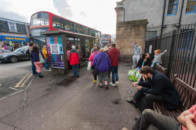 Musselburgh town centre is usually a busy bus route
