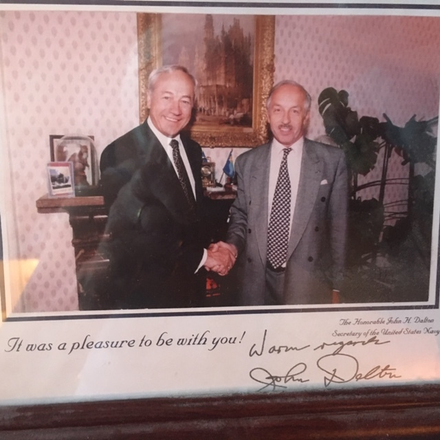 The proud owner of Eisenhower's autograph