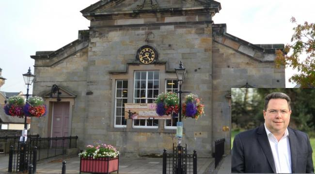 Councillor Craig Hoy (pictured) believes public areas such as this one outside of Haddington Corn Exchange should be utilised to get the hospitality industry back on its feet
