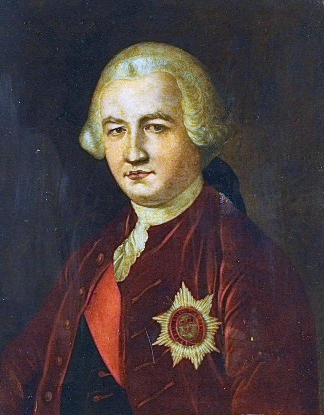 Major-General Robert Clive, 1st Baron Clive, KB MP FRS, also known as Clive of India.