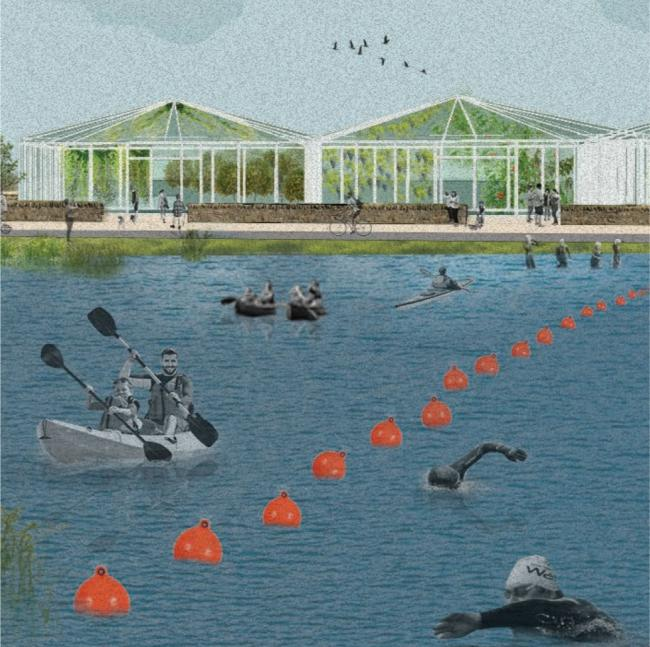Plans for a water park include a sports centre in artist's impression
