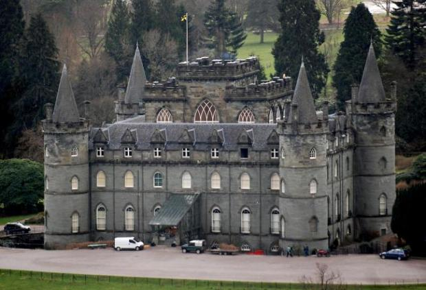 East Lothian Courier: Inveraray Castle played host to Downton Abbey