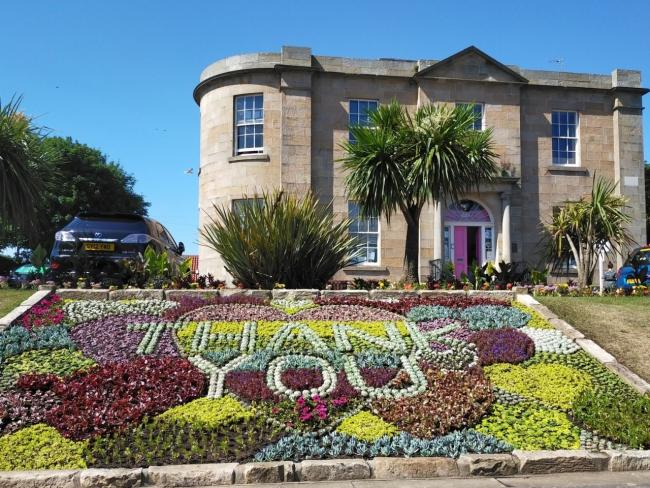 An impressive floral display has been created in Dunbar