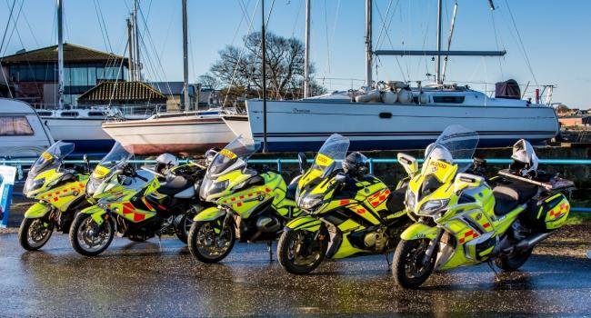 Blood Bikes Scotland has received a cash boost from a Dunbar group