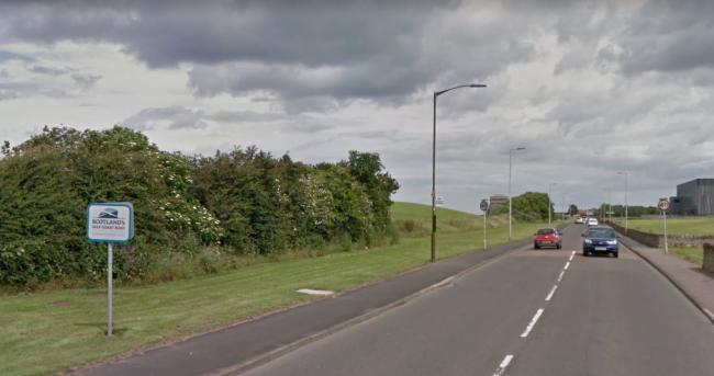 A cyce lane is coming to coast road between Prestonpans and Cockenzie and Port Seton pic Google maps