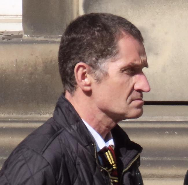 Brian Harding outside Edinburgh Sheriff Court