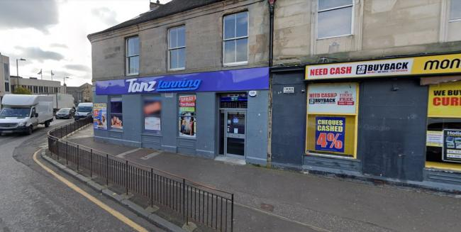 The incident took place at Tanz salon in Musselburgh. Image Google Maps