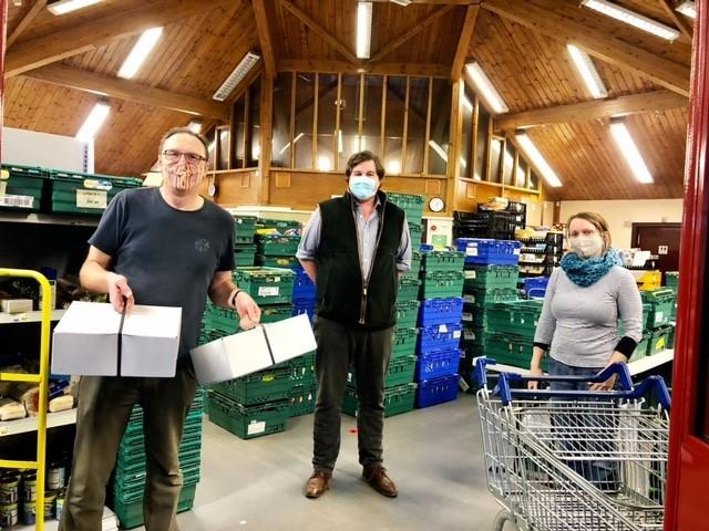 A special donation was made to East Lothian Foodbank shortly before Christmas