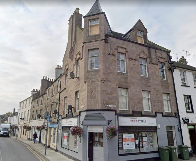 A washing machine was thrown at police from a flat on Haddington High Street. Image: Google Maps