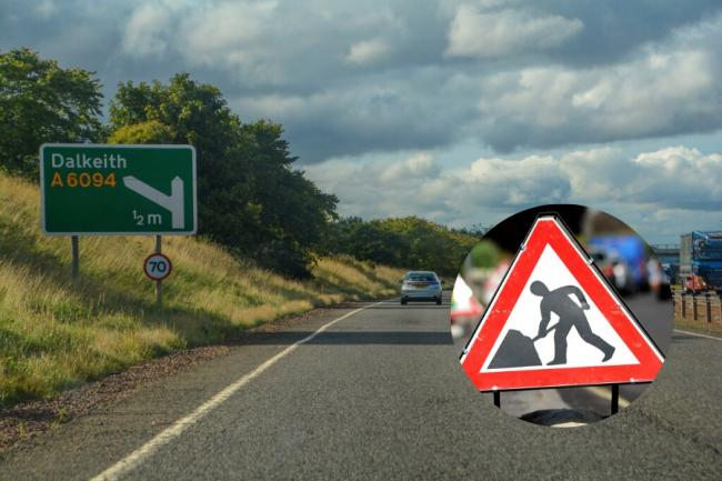 Roadworks will take place along the A1 for much of April