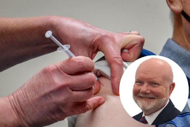 Musselburgh MSP Colin Beattie (inset) is calling for patience from those awaiting a coronavirus vaccine. Main image: PA