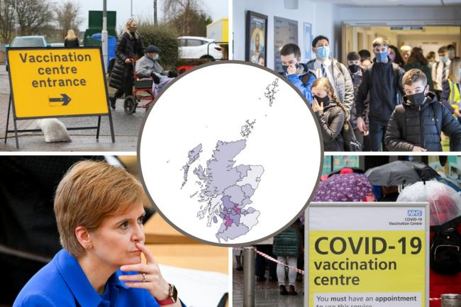 This week's top 500 Covid hotspot neighbourhoods in Scotland revealed