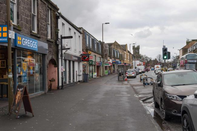 Town centres, including Musselburgh High Street, are left empty following newly-introduced restrictions. Picture: Gordon Bell.