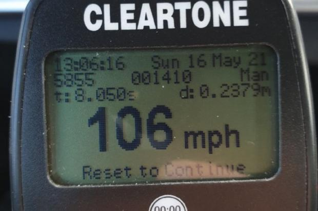 A driver was clocked at 106mph on the A1 near Haddington. Image: East Lothian Police