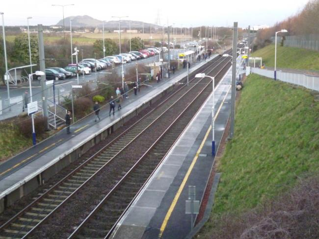 Commuters at Musselburgh were not allowed to board the train