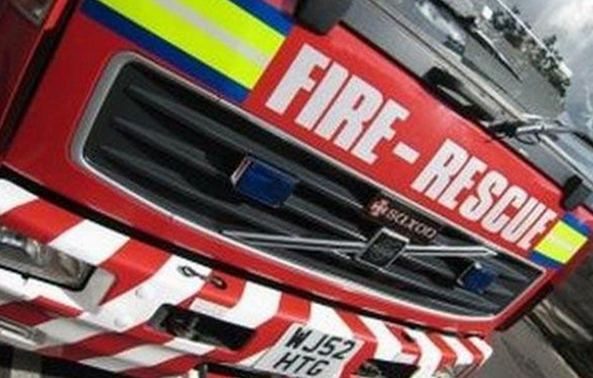 Firefighters have spent hours tackling the blaze