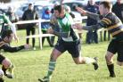 Dunbar in action against Hawick Harlequins